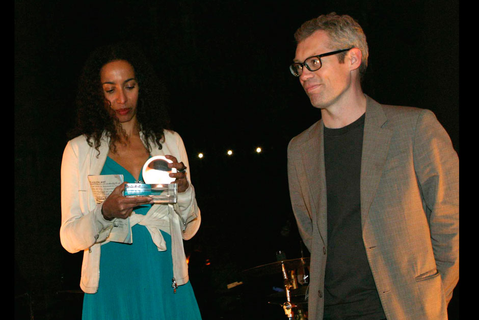 Michelle Ogundehin editor-in-chief at ELLE decoration UK and Jasper Morrison - Designer © Claudio Tajoli – Nally Bellati