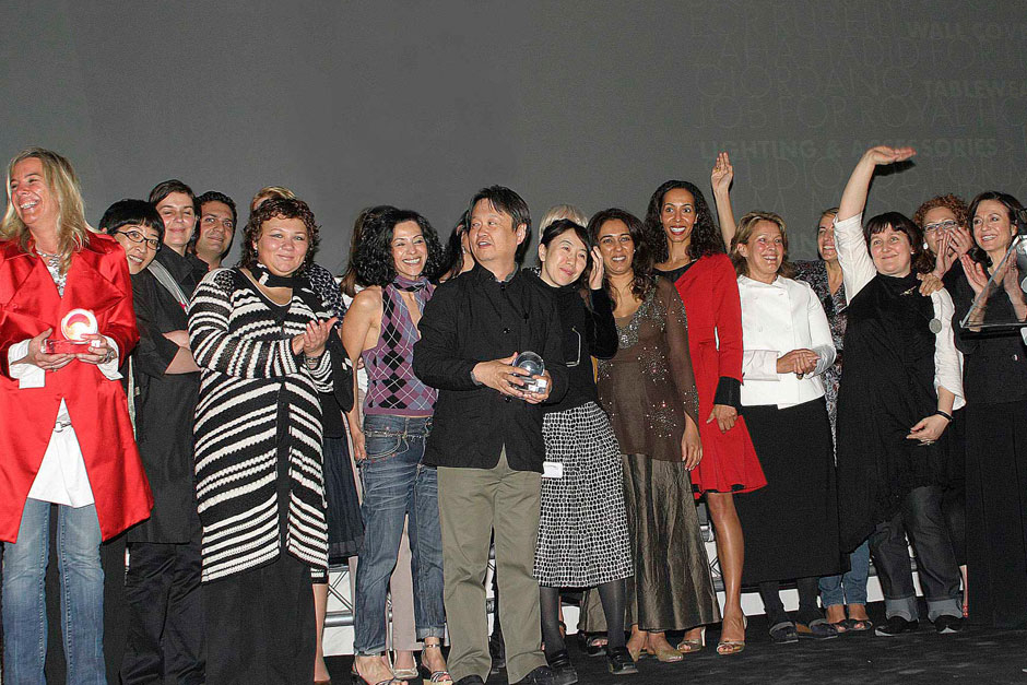 Editors in chief of ELLE decoration network and the winners © Nally Bellati - Stefano Pavesi Contrasto