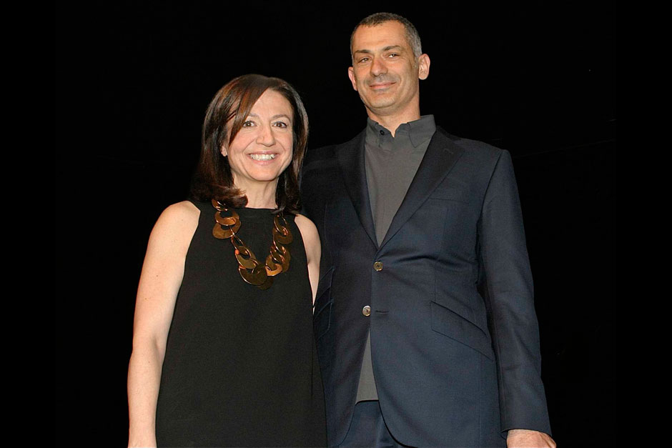 Livia Peraldo Matton editor-in-chief at ELLE decor Italy and Arik Levy - Designer © Nally Bellati - Stefano Contrasto