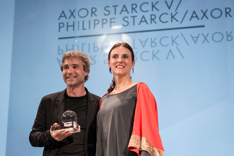 Philippe Grohe, head of Axor, and Marta RIOPÉREZ, editor in chief at ELLE DECOR Spain © Valentina Sommariva