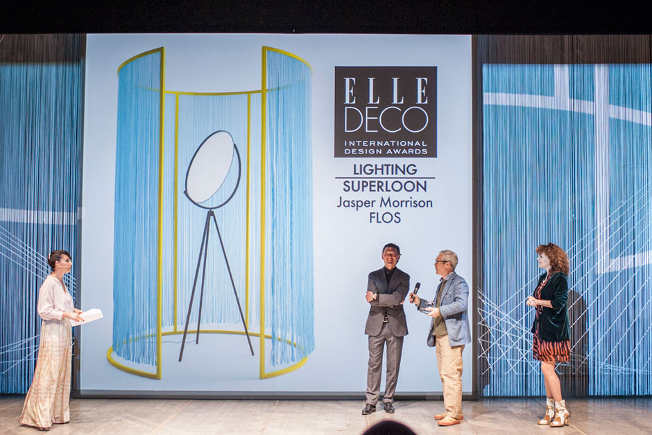 Paola Maugeri, speaker, Piero Gandini, CEO of Flos, Jasper Morrison, designer and Edine Russel, Editor-in-Chief at ELLE DECORATION Netherlands © VALENTINA SOMMARIVA